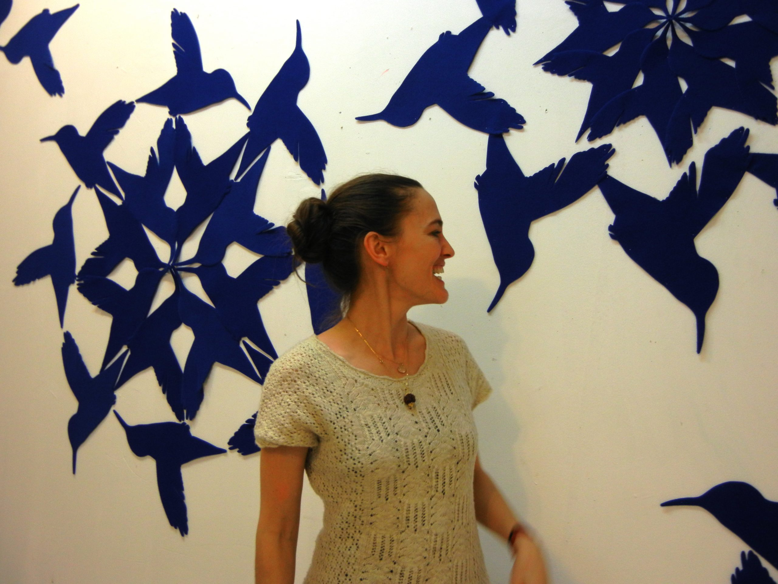 Susanna in Hummingbird Sky Installation