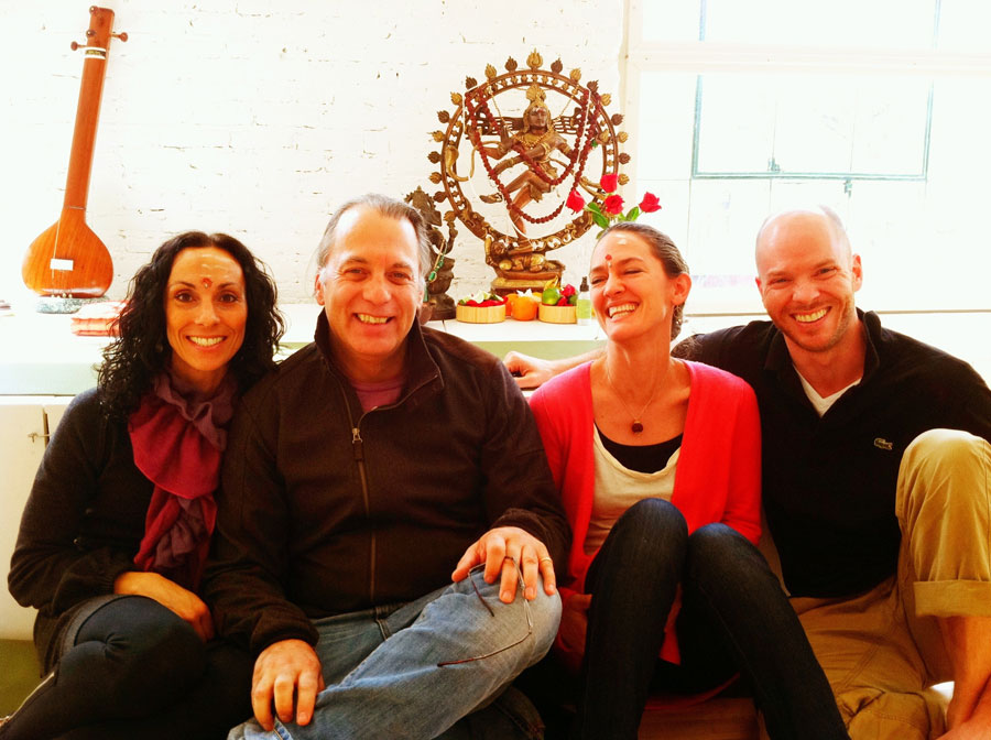 At Dig Yoga with Sue Elkind, Douglas Brooks, and Harrison Williams