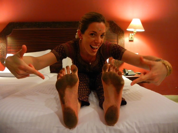 Jennifer's Feet after the 1st Night in the Temple, Chidambaram